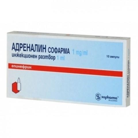 АДРЕНАЛИН АМП 0.1% 1МЛ