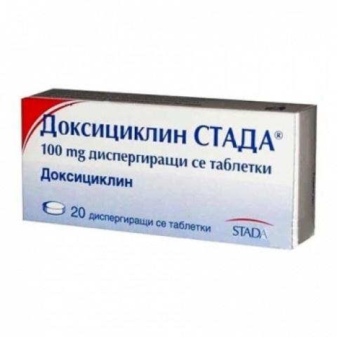 Снимка на ДОКСИЦИКЛИН СТАДА 100МГ Х 20 за 5.79лв. от Аптека Медея
