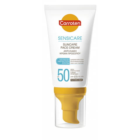 Carroten Sensicare SPF50 слънцезащитен крем за лице 50мл.