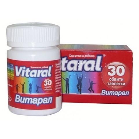 Снимка на Витарал, хранителна добавка, 30 таблетки, Йелфа за 11.59лв. от Аптека Медея