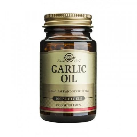 Чесново масло за висок имунитет, 100 капсули, Solgar