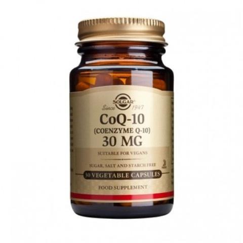 Снимка на Кензим Q10 (CoQ-10), хранителна добавка, 30мг, 30, Solgar за 42.49лв. от Аптека Медея