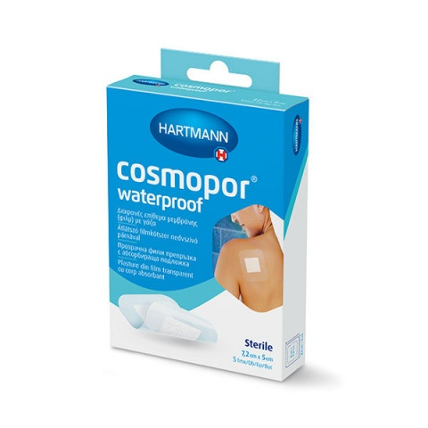 Снимка на Cosmopor Waterproof прозрачна филм абсорбираща превръзка 7,2см. x 5см. х 5 броя, Hartmann за 2.89лв. от Аптека Медея