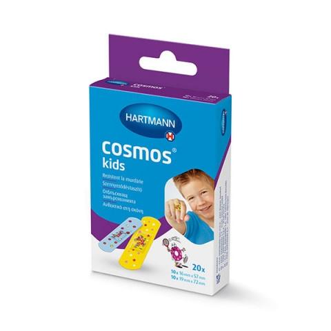 Снимка на Cosmos Kids отблъскващи замърсяванията пластири за деца 2 размера х 20 броя, Hartmann за 2.19лв. от Аптека Медея