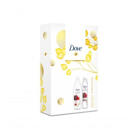 Dove Cacao & Hibiscus Duo /дезодорант спрей 150мл + Cacao & Hibiscus душ гел 250мл/