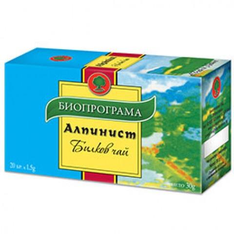 Снимка на Билков чай Алпинист, 20 бр. филтър, Биопрограма за 1.19лв. от Аптека Медея