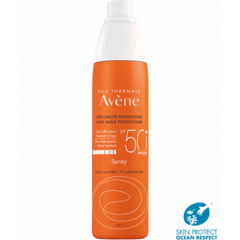 Avene Sun SPF50+ слънцезащитен спрей за тяло 200мл.