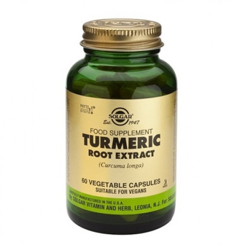 Хранителна добавка Куркума, 60 капсули, Solgar