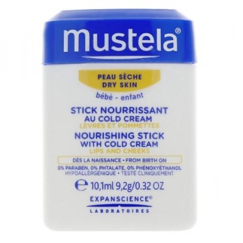 Mustela Bebe Хидра стик с колд крем за бебета и деца при суха или изложена на агресиите на околната среда кожа 9,2гр