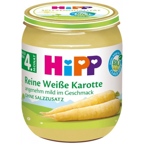HIPP ПЮРЕ БЯЛ МОРКОВ 125ГР