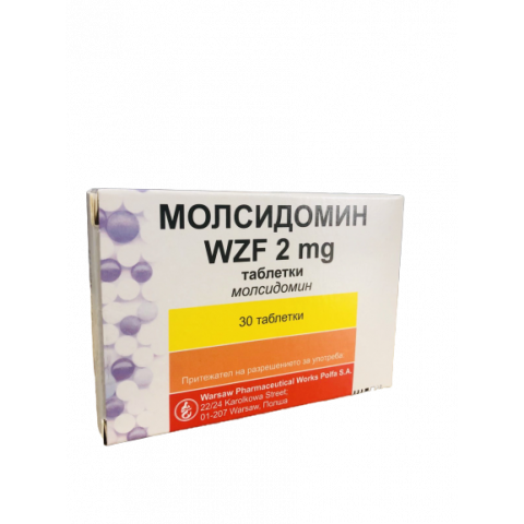 МОЛСИДОМИН ТБ 2МГ X 30