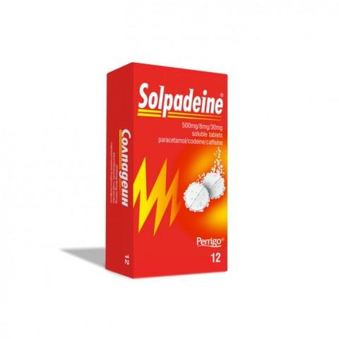 Солпадеин, с парацетамол, кодеин и кофеин, 12 ефервесцентни таблетки