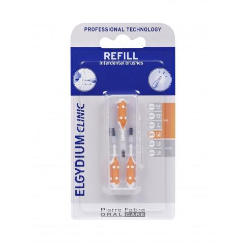 Снимка на Elgydium Clinic Refills интердентална четка /оранжев/- пълнител 1,2мм. за 6.79лв. от Аптека Медея