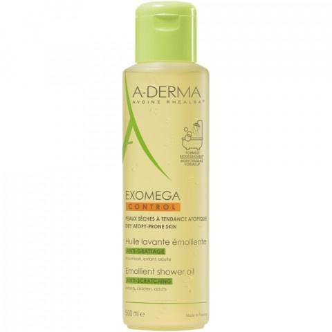 A-Derma Exomega Control емолиентено пенещо душ олио за лице и тяло 500 мл.