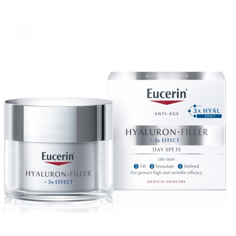 Снимка на Eucerin Hyaluron-Filler SPF15 Дневен крем за лице за суха кожа 50мл. за 44.79лв. от Аптека Медея