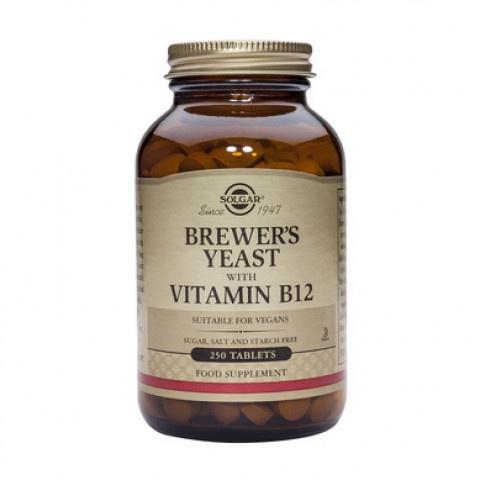 Бирена мая + Витамин B12, 250 таблетки, Solgar
