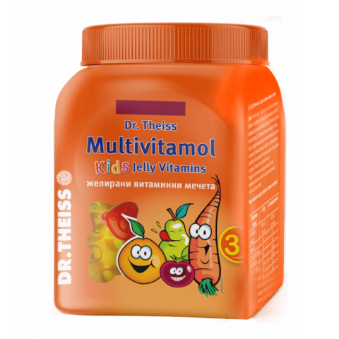 Снимка на Мултивитамол, витаминни желирани мечета за деца над 3 години х 50 броя, Dr.Theiss за 16.49лв. от Аптека Медея