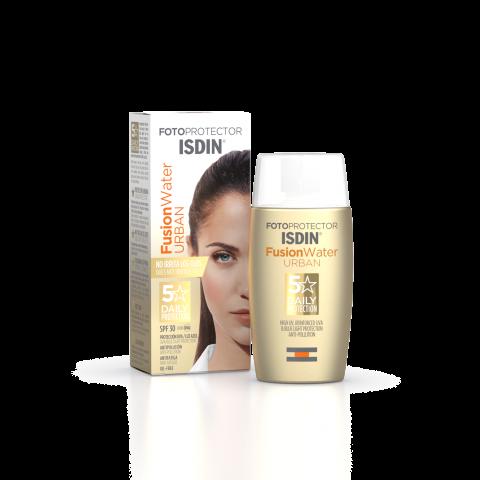 Снимка на ISDIN Fotoprotector Fusion Water Urban SPF30 слънцезащитен флуид за лице за предпазване на кожата в градска среда 50мл. за 20.84лв. от Аптека Медея