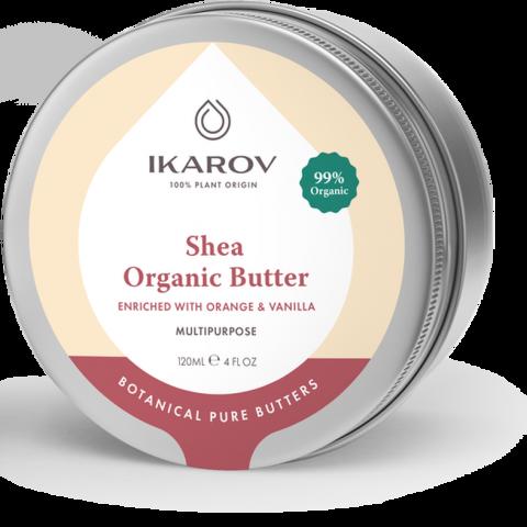 Ikarov Био органично масло за тяло от ший с портокал и ванилия 120 мл