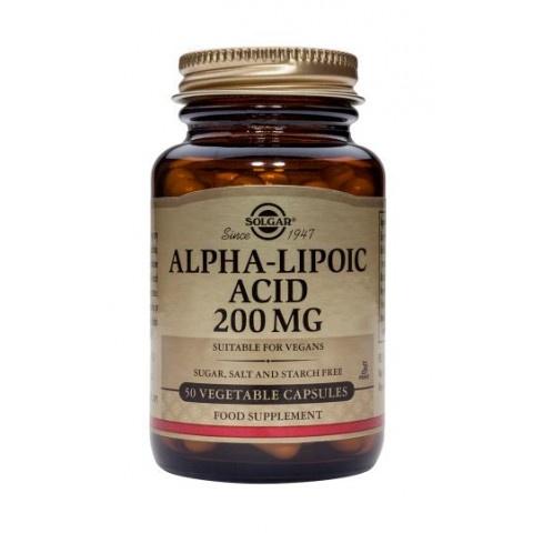 Снимка на Алфа Липоева киселина, Хранителна добавка, 200мг, 50 капсули, Solgar за 63.99лв. от Аптека Медея