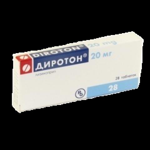 Снимка на ДИРОТОН ТБ 20МГ Х 28 за 6.89лв. от Аптека Медея