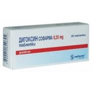 ДИГОКСИН СФ ТБ 0,25МГ Х 20