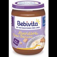 "Bebivita Био млечна каша ""Лека нощ"" с грис, бисквити и банан 190г."