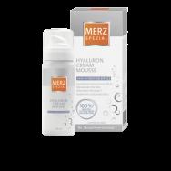 Крем Мус Хиалурон 50 ml Козметичен продукт Подмладява кожата и стимулира продукцията на хиалуроновата киселина. Хридратиращ и незабавно овлажняващ ефект върху кожата. Номер 1 марка в Германия. За красива, хидратирана кожа. Мерц Специал Крем Мус Хиалурон с