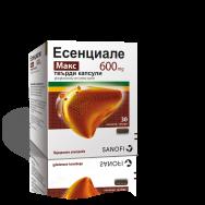 Есенциале Макс за черния дроб, фосфолипиди от соеви зърна, 600мг, 30 капсули, Sanofi