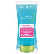Bioderma Sebium Gel Moussant почистващ гел за мазна и акнеична кожа в туба 200мл. х 2 броя