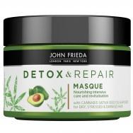 John Frieda Detox & Repair Детоксикираща и интензивно подхранваща маска за увредена коса 250 мл