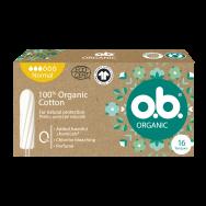 O.B. Organic Normal дамски органични тампони за дни със средно до силно течение х 16 броя
