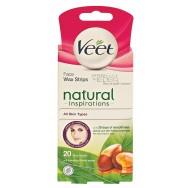 Veet Pure Natural Депилиращи ленти за лице х 20